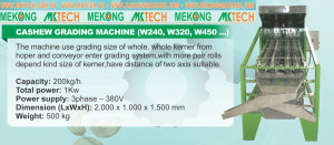 Whole kernel grading machine